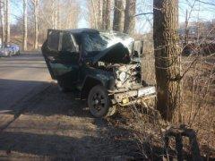 В Мичуринске водитель «УАЗа» погиб после столкновения с деревом