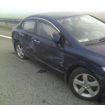 Фото ДТП на липецкой трассе, где столкнулись 8 автомобилей