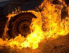 В Моршанском районе огонь уничтожил грузовик