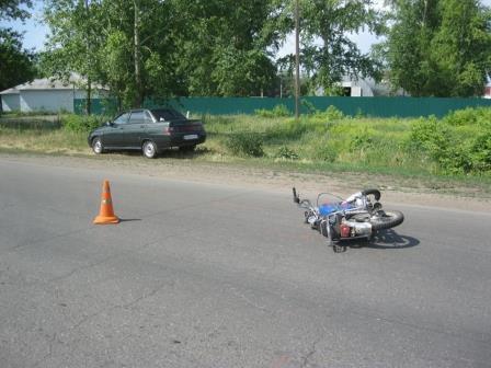 В Мичуринском районе в ДТП пострадал 17-летний подросток
