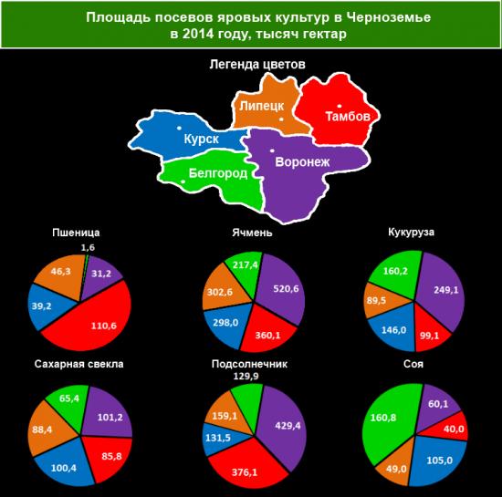 Что выращивают на полях регионов Черноземья?