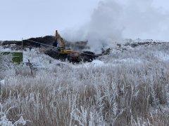 Под Тамбовом горит мусорный полигон «КомЭк»