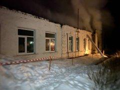 В Ржаксинском районе загорелась школа