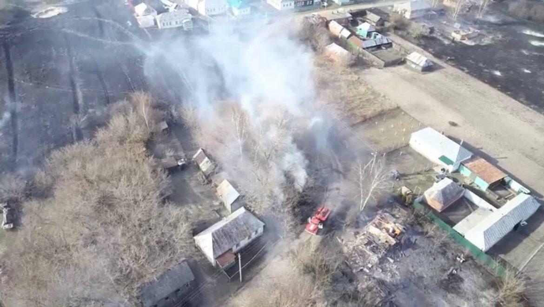 В селе Троицкая Вихляйка сгорел 21 дом