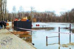 В Мичуринске затопило набережную, которую недавно благоустроили
