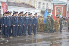 Члены «РСВА» прошли торжественным маршем по площади И.В. Мичурина