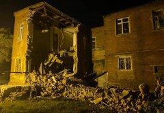 В Тамбове обрушилась стена жилого дома по улице Октябрьской