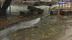 Новые трубы ушли под воду из-за сильных дождей